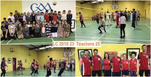teachers playing pupils footbal match