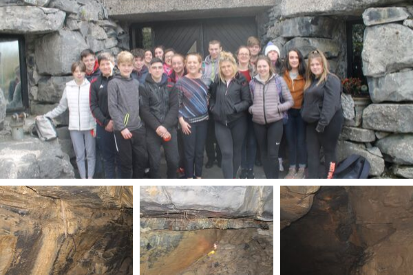 students at Aillwee caves